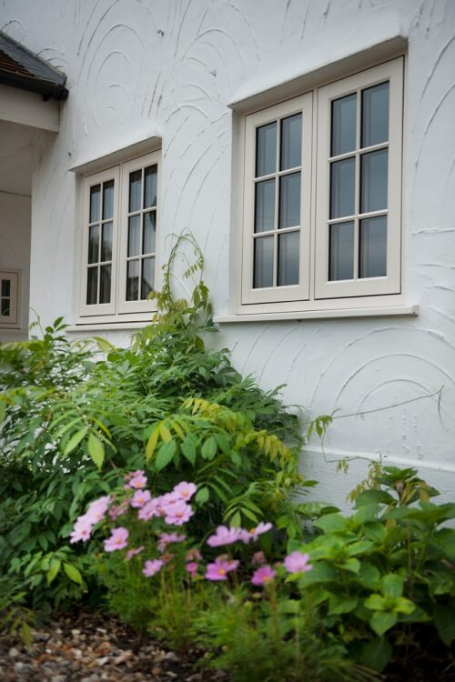 authentic timber windows, bespoke authentic timber windows, flush sash authentic timber windows, green windows