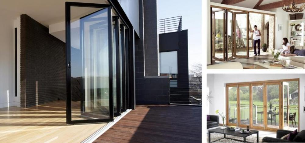 bi-fold doors London, bespoke bi-fold doors London, coloured bi-fold doors London, aluminium bi-fold doors London