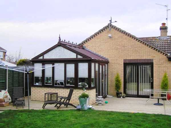 gable conservatory, gable conservatories, gable front conservatory, gable end conservatories, coloured gable conservatories