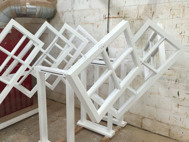 painted hardwood windows Rutland, bespoke painted hardwood windows Rutland, Rutland hardwood windows painted workshop, painted hardwood windows in Rutland