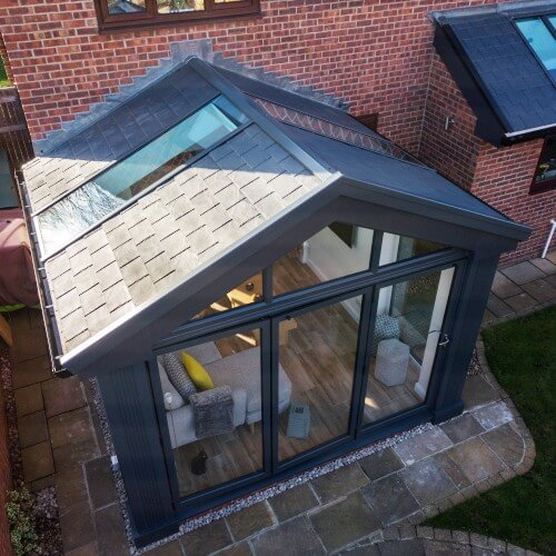 grey home extensions with bi-folds Rutland, bespoke grey home extensions with bi-folds Rutland, home extension builders Rutland, Rutland home extensions with bi-folds
