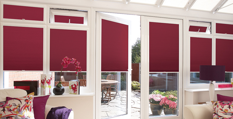 made to measure blinds, pleated made to measure blinds, heat rejecting made to measure blinds, heat retaining made to measure blinds, coloured blinds for conservatory