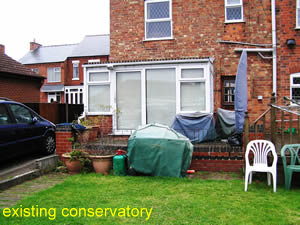 existing conservatory before replacement