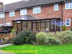 existing conservatory in need of replacement conservatory