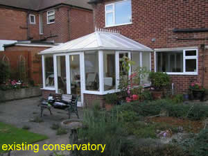 old conservatory needing replacement