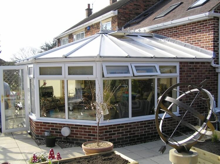 replace polycarbonate conservatory roof with glass just. Black Bedroom Furniture Sets. Home Design Ideas
