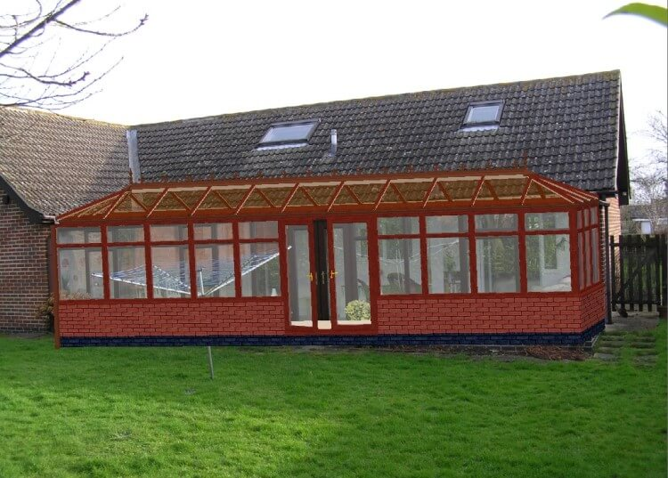 replacement woodgrain conservatory roof, replacement woodgrain conservatory roofs, replacement woodgrain conservatory roof company